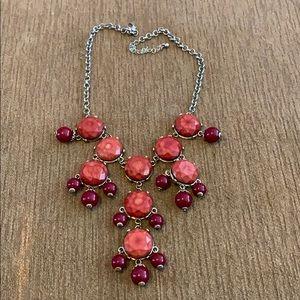 Burgundy bubble necklace